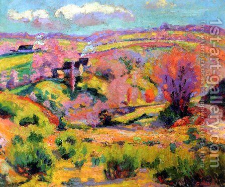 Landscape of Creuse at spring by Armand Guillaumin - Reproduction Oil Painting