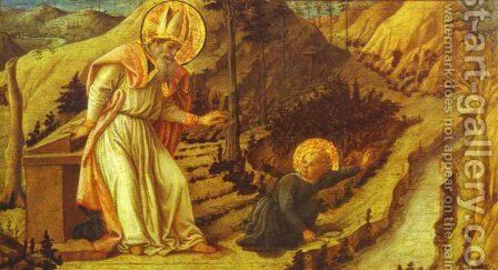 The Vision of St. Augustine by Fra Filippo Lippi - Reproduction Oil Painting