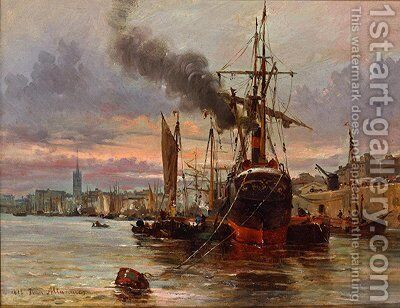 Seascape 7 by Ioannis (Jean H.) Altamura - Reproduction Oil Painting