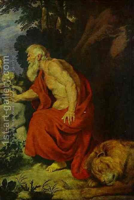 St Jerome 2 by Sir Anthony Van Dyck - Reproduction Oil Painting