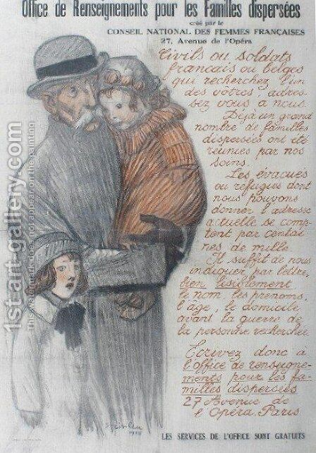 Les Familles Dispersees by Theophile Alexandre Steinlen - Reproduction Oil Painting