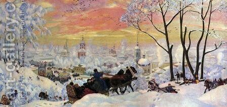 Shrovetide 4 by Boris Kustodiev - Reproduction Oil Painting