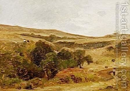 Wasteland by Charles-Francois Daubigny - Reproduction Oil Painting