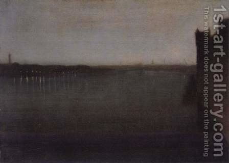 Nocturne, Grey and Gold 2 by James Abbott McNeill Whistler - Reproduction Oil Painting