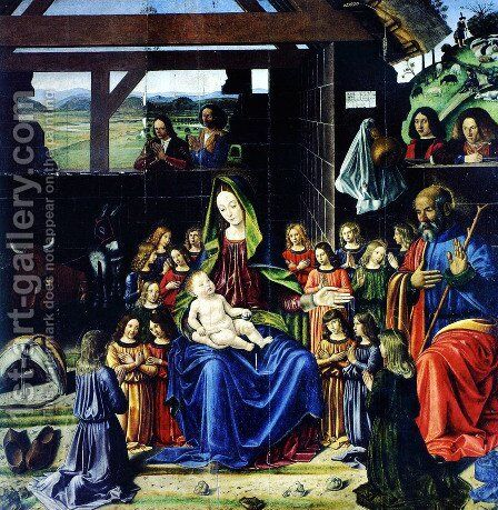 The Nativity by Andrea Mantegna - Reproduction Oil Painting