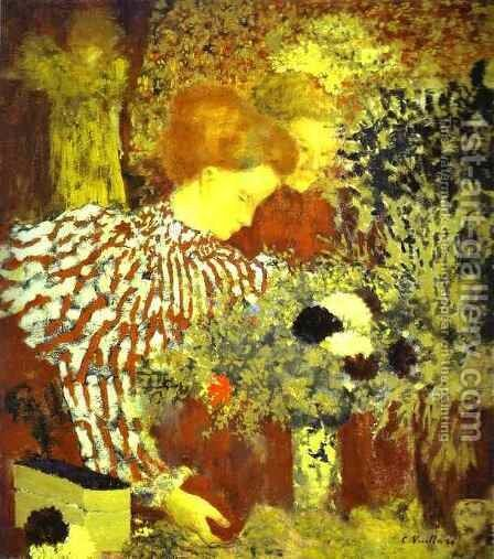 The Striped Blouse by Edouard  (Jean-Edouard) Vuillard - Reproduction Oil Painting