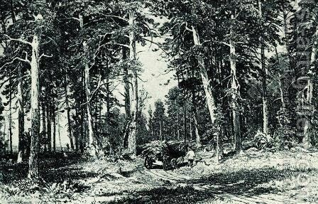 Forest 15 by Ivan Shishkin - Reproduction Oil Painting
