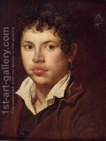 Portrait of a young man 2 by Jean Auguste Dominique Ingres - Reproduction Oil Painting