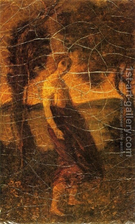 A Country Girl by Albert Pinkham Ryder - Reproduction Oil Painting