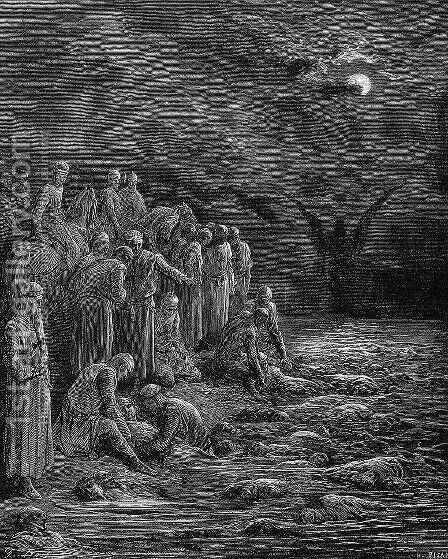 The Crusaders on the Nile by Gustave Dore - Reproduction Oil Painting