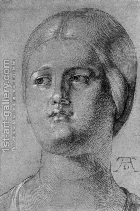 Head of a Woman 3 by Albrecht Durer - Reproduction Oil Painting