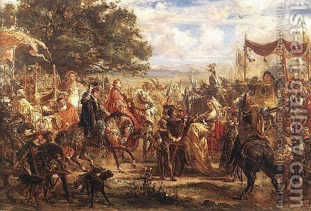 Congress of the Kings by Jan Matejko - Reproduction Oil Painting