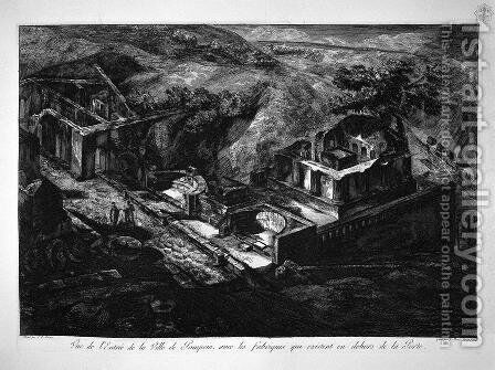 Villa in Pompei by Giovanni Battista Piranesi - Reproduction Oil Painting