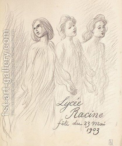 Lycee Racine by Theophile Alexandre Steinlen - Reproduction Oil Painting