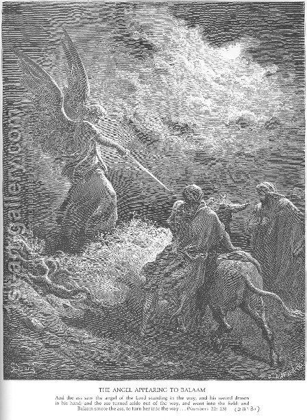 An Angel Appears to Balaam by Gustave Dore - Reproduction Oil Painting