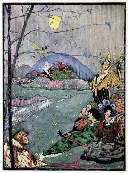 The Year's at the Spring 38 by Harry Clarke - Reproduction Oil Painting