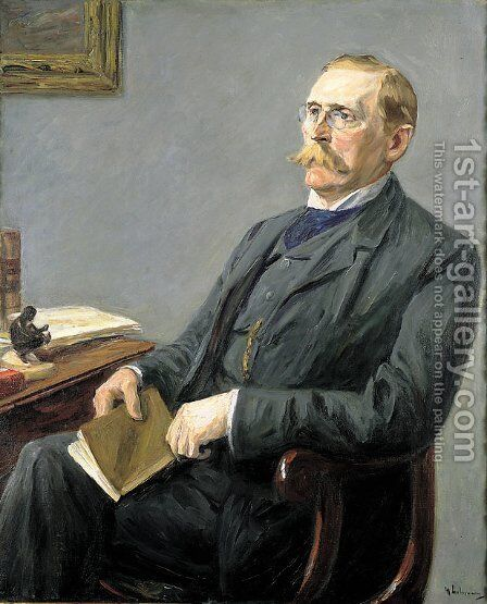 Portrait of Wilhelm Bode by Max Liebermann - Reproduction Oil Painting