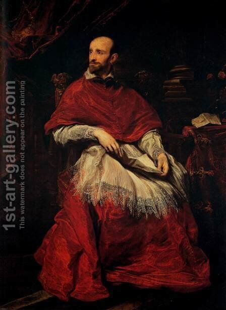 Portrait of Cardinal Guido Bentivoglio by Sir Anthony Van Dyck - Reproduction Oil Painting