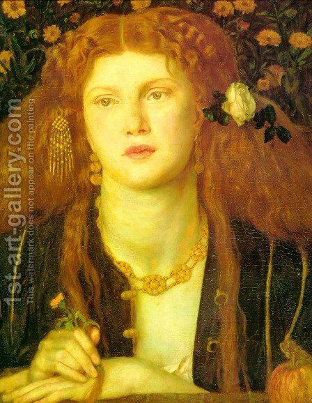 Kissed Mouth by Dante Gabriel Rossetti - Reproduction Oil Painting