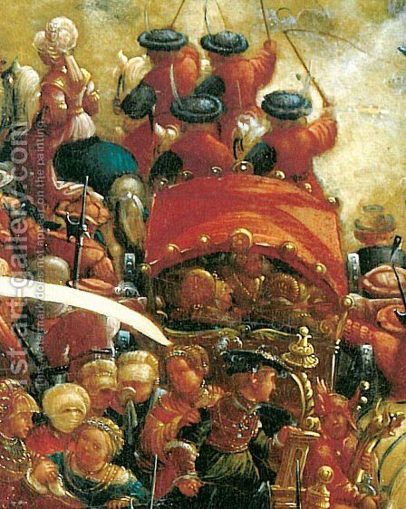 The battle of Issus(fragment) 10 by Albrecht Altdorfer - Reproduction Oil Painting