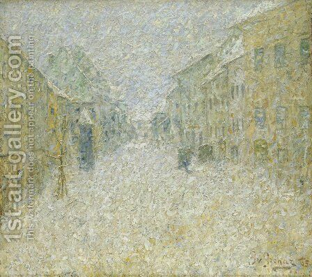 Skofja Loka in the snow by Ivan Grohar - Reproduction Oil Painting