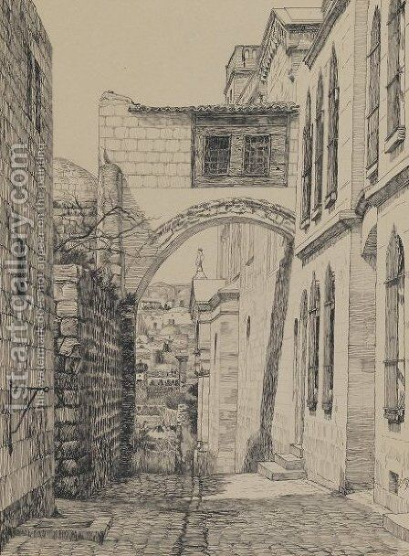 A Part of the Ancient Arch Called Ecce Homo by James Jacques Joseph Tissot - Reproduction Oil Painting