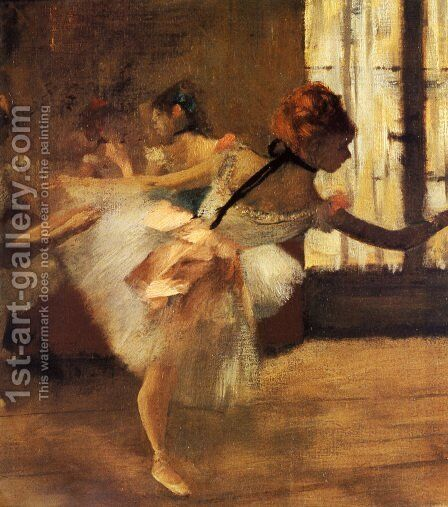 Repetition of the Dance (detail) by Edgar Degas - Reproduction Oil Painting