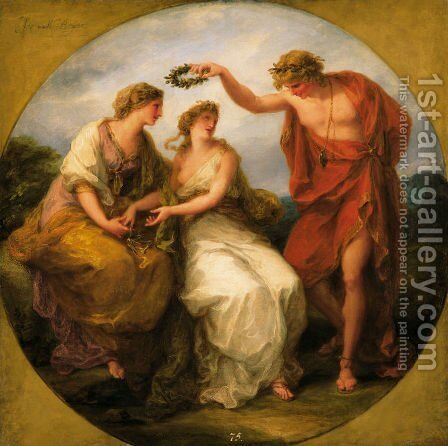 Beauty Directed by Prudence by Angelica Kauffmann - Reproduction Oil Painting
