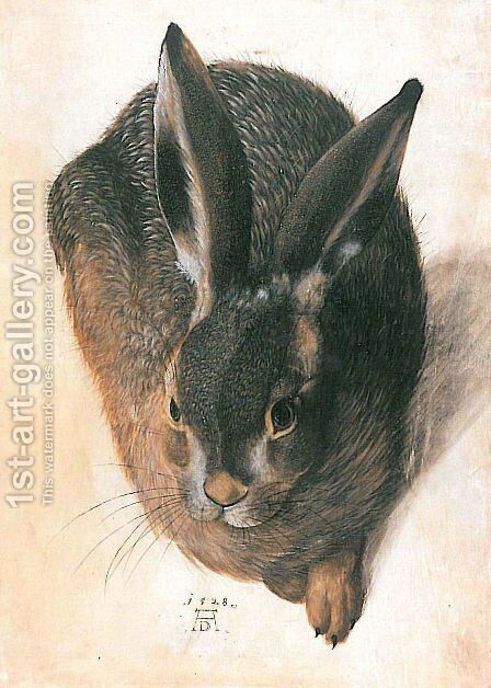 Hare by Hans Hoffmann - Reproduction Oil Painting