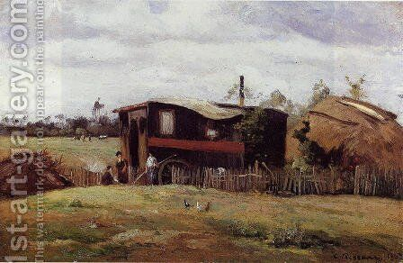 The bohemian's wagon by Camille Pissarro - Reproduction Oil Painting