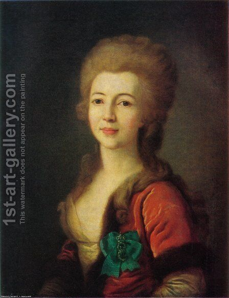Portrait of Catherine Vorontsova by Dmitry Levitsky - Reproduction Oil Painting