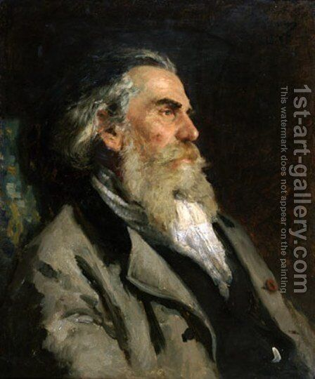 Portrait of the Artist A. P. Bogolubov 2 by Ilya Efimovich Efimovich Repin - Reproduction Oil Painting