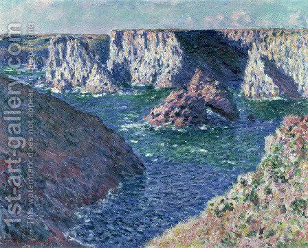 Rocks at Belle-Ile by Claude Oscar Monet - Reproduction Oil Painting