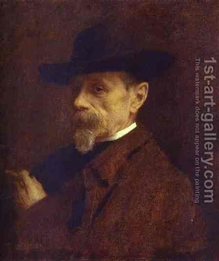 Portrait of the Photographer Andrey Denier by Ivan Nikolaevich Kramskoy - Reproduction Oil Painting