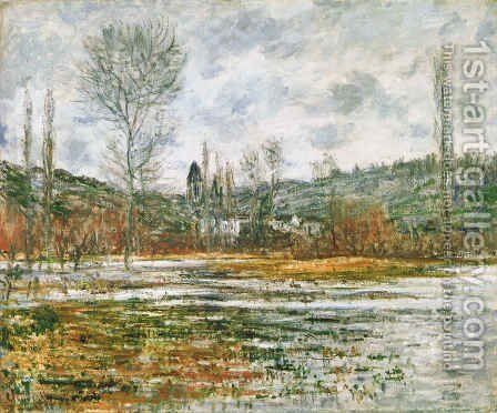 Vetheuil, Prairie Inondee by Claude Oscar Monet - Reproduction Oil Painting