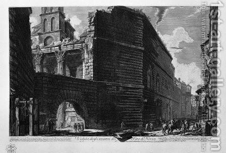 View the remains of the Forum of Nerva 2 by Giovanni Battista Piranesi - Reproduction Oil Painting