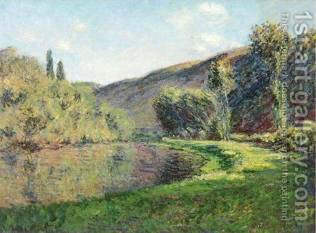 The Arm of the Siene at Jeufosse, Afternoon by Claude Oscar Monet - Reproduction Oil Painting