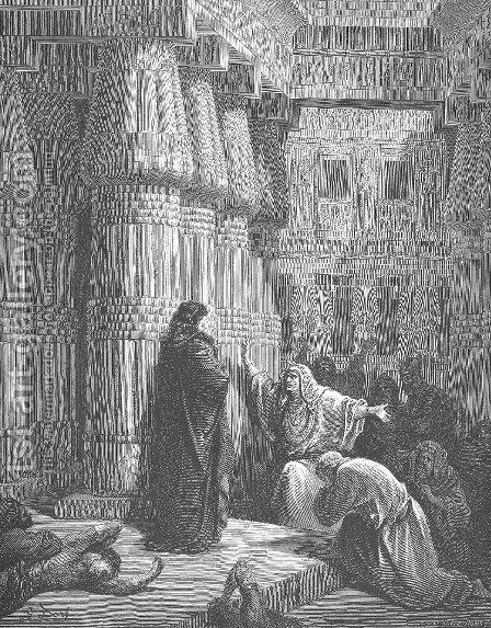 The Egyptians Ask Moses to Depart by Gustave Dore - Reproduction Oil Painting