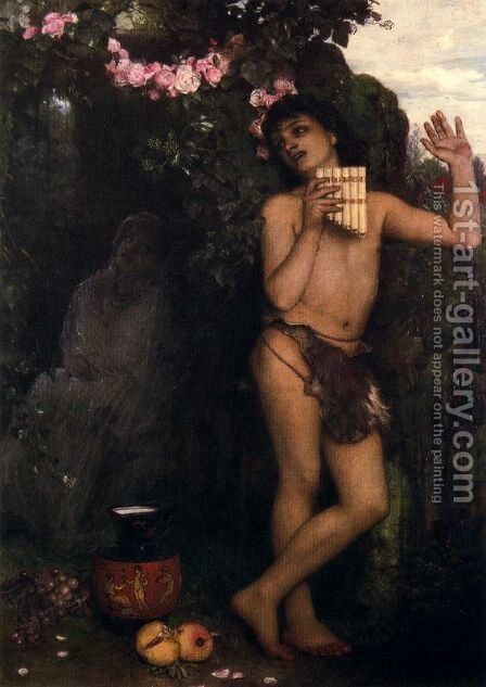 Lament of the shepherd by Arnold Böcklin - Reproduction Oil Painting
