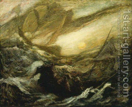 Flying Dutchman by Albert Pinkham Ryder - Reproduction Oil Painting