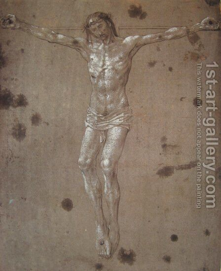 Christ on the cross by Hugo Van Der Goes - Reproduction Oil Painting