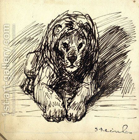 Lion 4 by Theophile Alexandre Steinlen - Reproduction Oil Painting