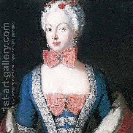 Portrait of Elisabeth Christine von Braunschweig Bevern, Prussian queen by Antoine Pesne - Reproduction Oil Painting