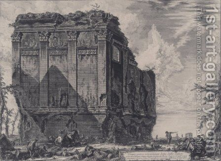 The So called Temple of Salus, on the Road to Albano by Giovanni Battista Piranesi - Reproduction Oil Painting