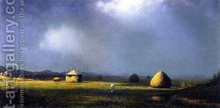 A Cloudy Day by Martin Johnson Heade - Reproduction Oil Painting
