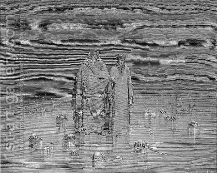 Cocytus--Traitors by Gustave Dore - Reproduction Oil Painting