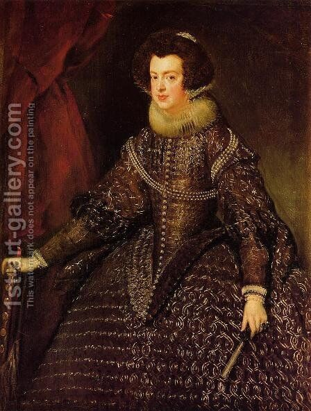 Queen Isabella of Spain wife of Philip IV by Velazquez - Reproduction Oil Painting