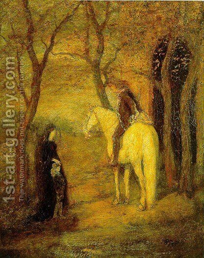 Roadside Meeting by Albert Pinkham Ryder - Reproduction Oil Painting