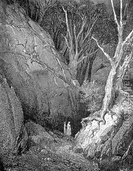 Virgil and Dante 2 by Gustave Dore - Reproduction Oil Painting