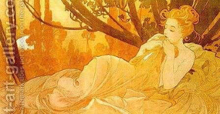 Dusk by Alphonse Maria Mucha - Reproduction Oil Painting